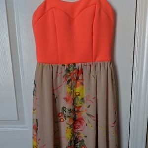 Bright Floral high-low dress